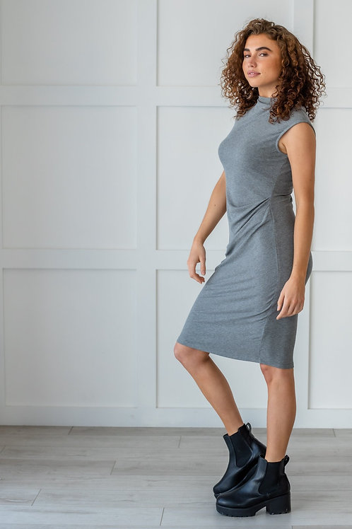Classy Gal Dress- Gray