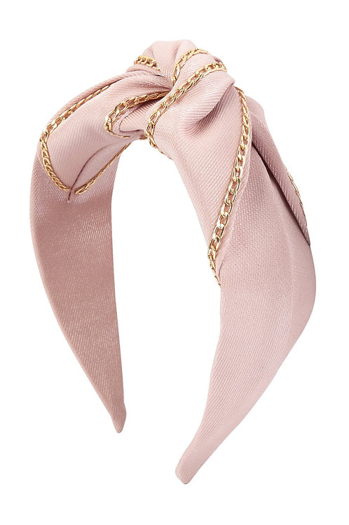 Pink Chain Fabric Fashion Head Band