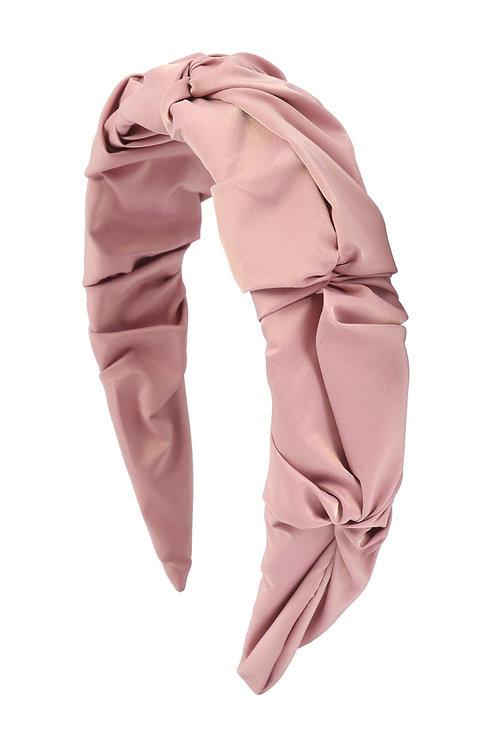 Pink Wrinkled Fashion Head Band