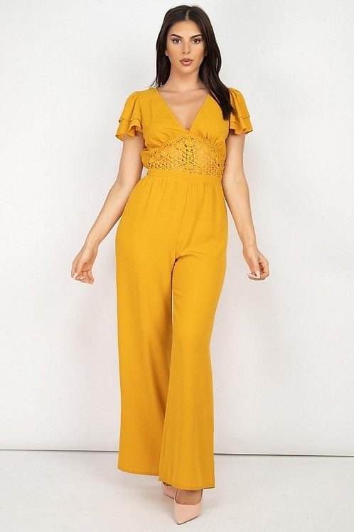 Brightly & Delightful Lace Jumpsuit