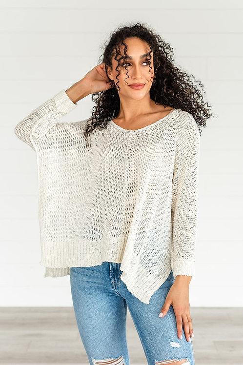 Beautiful Soul Cuffed Sweater - Cream