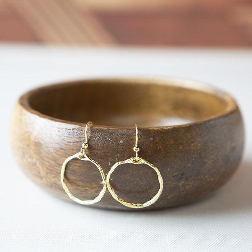 Freeform Earrings-Small Circle