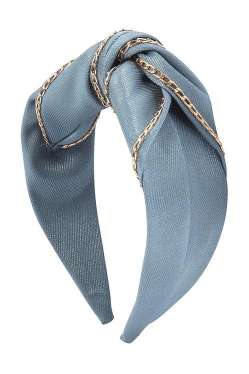 Blue Chain Fabric Fashion Head Band