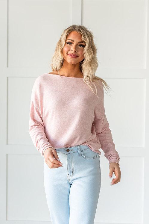 What a Beauty Drop Shoulder Top- Pink