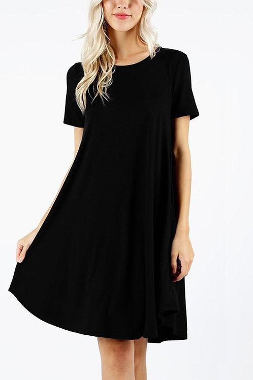 Sleeveless Flared Dress With Side Pockets