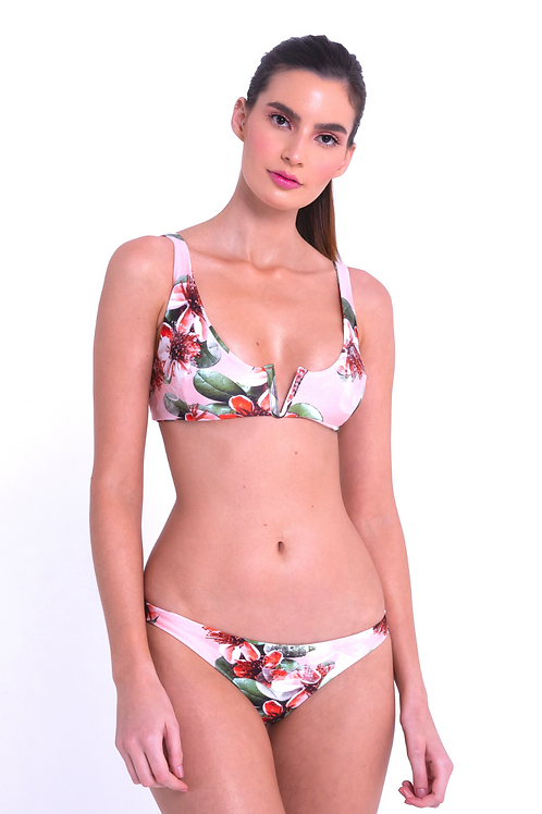Isla Bella Bikini Set With v Top & Ripple Bottom