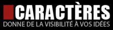 Logo CARACTÈRES Enseignes