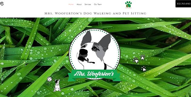 Mrs. Woof screenshot of website2019-12-1