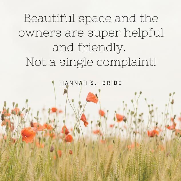 Hannah S, Bride