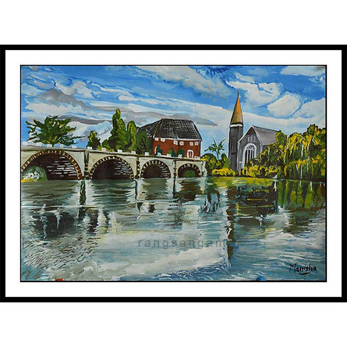 River Bridge   Acrylic on Paper