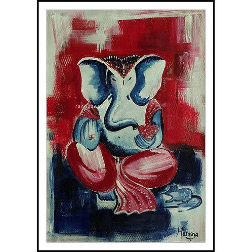 Shubhra Ganesha | Acrylic on Paper