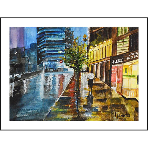 Wet Evening | Watercolor on Paper