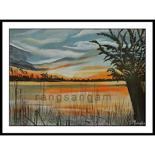 Lake Side | Acrylic on Paper