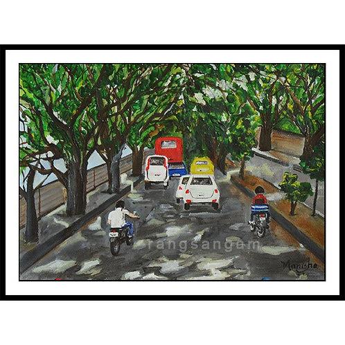 Bengaluru-1| Acrylic on Paper