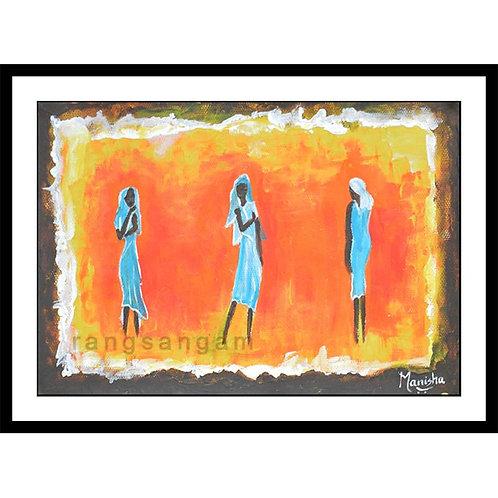 Tribal Women | Acrylic on Paper