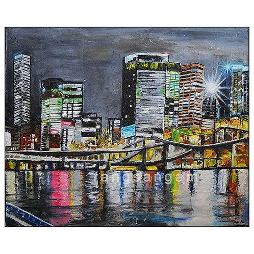 Brisbane Skyline | Oil on Canvas