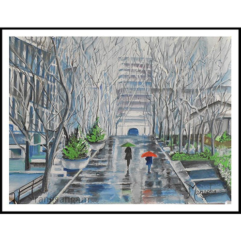 Rainy Day | Water Color on Paper