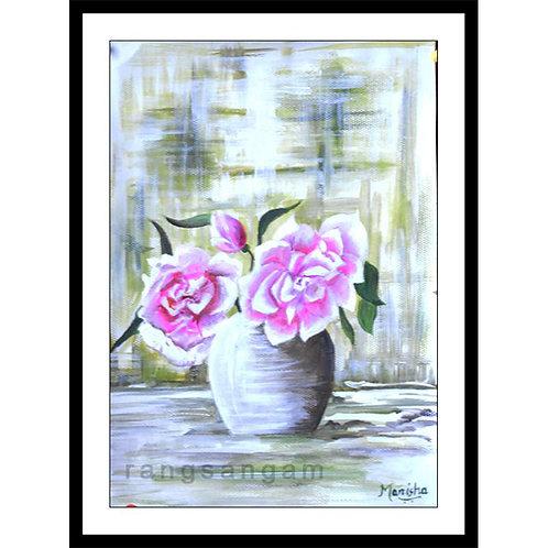Plucked Away | Acrylic on Paper