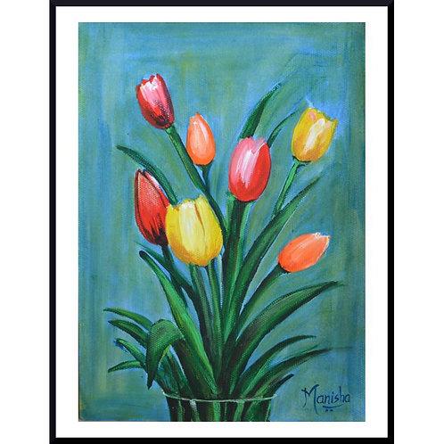 Summer Tulips | Acrylic on Paper