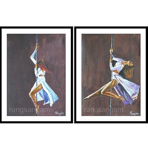 Pole Art   Acrylic on Paper