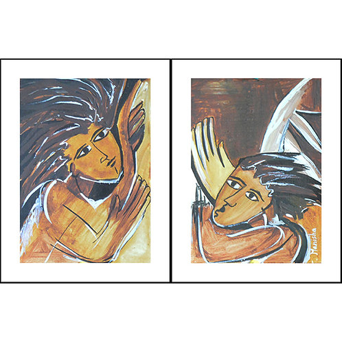 Love Birds | Acrylic on Paper