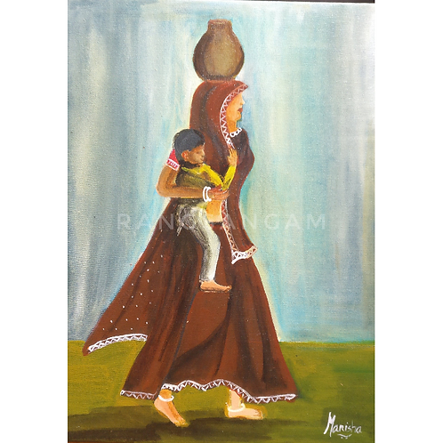 Village Life-2 | Acrylic on Canvas