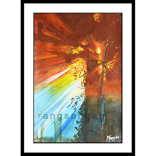 Sun Rays | Acrylic on Paper