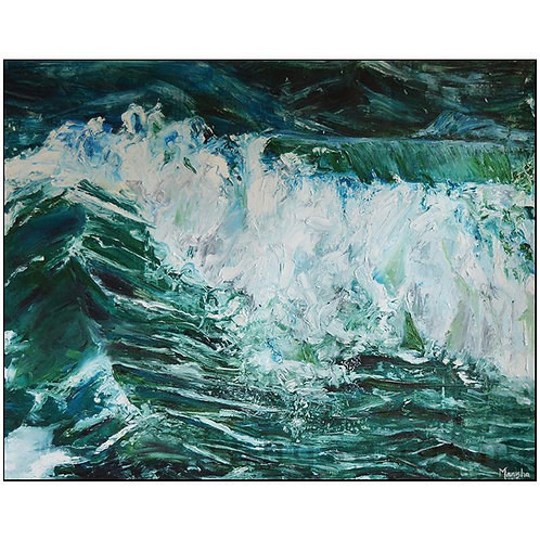 Ocean Wave  | Oil on Canvas