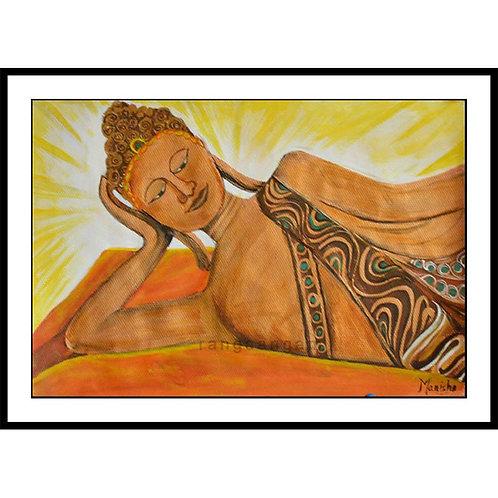 Reclining Buddha | Acrylic on Paper