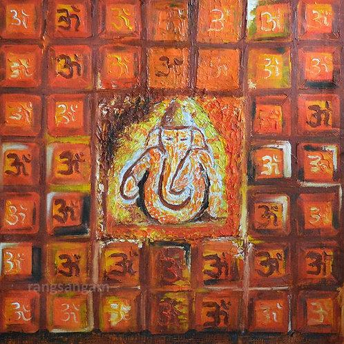 Om Ganesha  | Oil on Canvas
