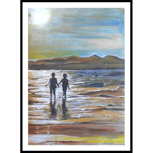 Beach Walk | Acrylic on Paper
