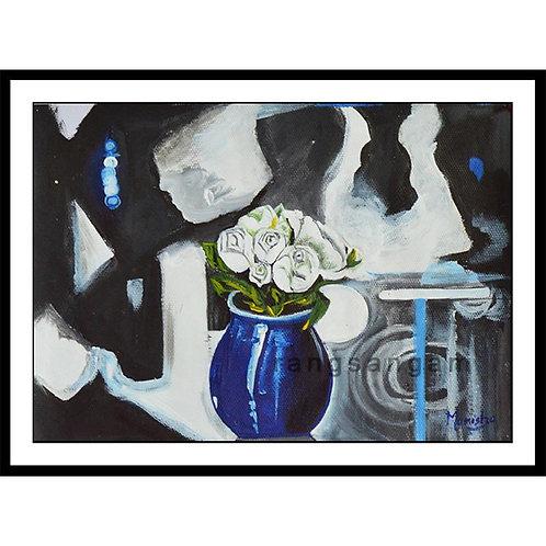 Blue Vase | Acrylic on Paper