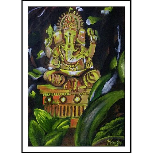 Swarna Ganapathi | Acrylic on Paper