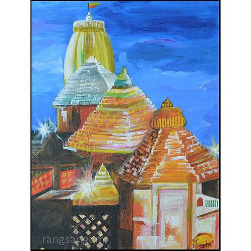 Puri Temple | Acrylic on Canvas