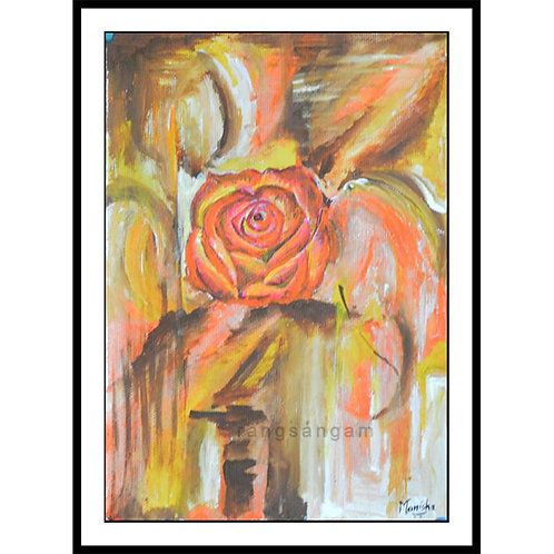 Orange Rose | Acrylic on Paper