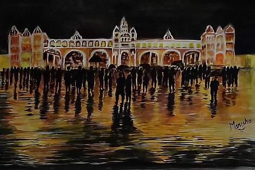Mysuru Dussehra -2   Watercolor on Paper
