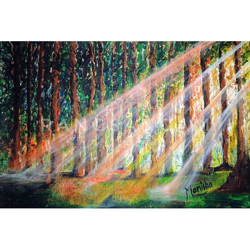 Ray of Hope   Acrylic on Paper