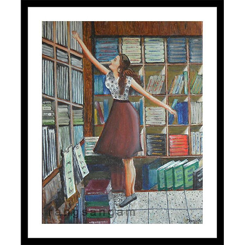 Among the Books | Oil on Canvas