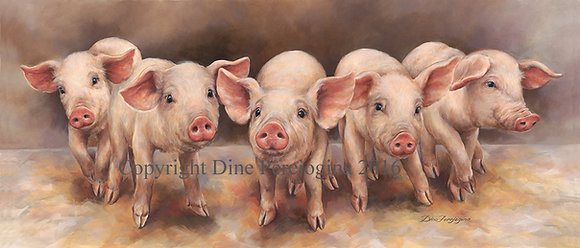 'Family of Five Piglets'