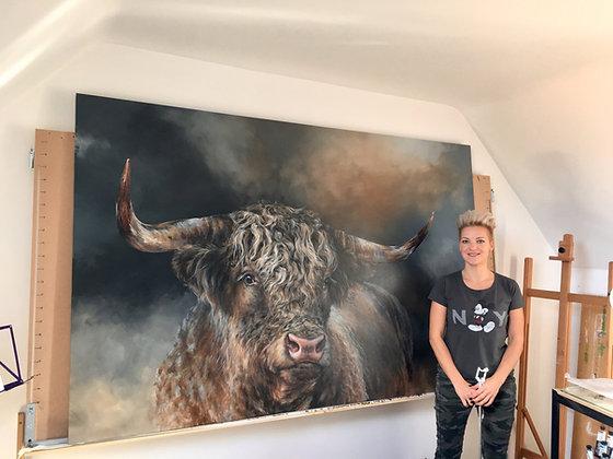 'Grand Kyloe Bull' ~ XX-Large Print