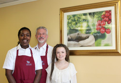 Artist Kerstin Lankey with Owners
