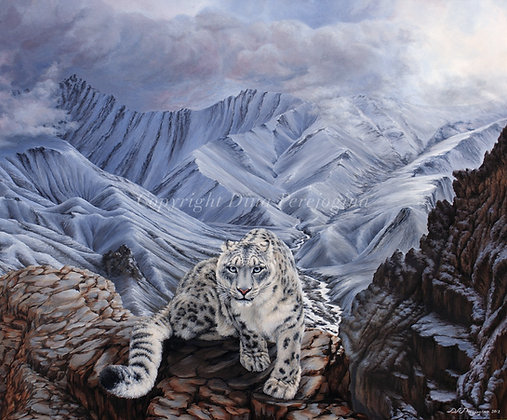 'Snow Leopard in the Mountains'