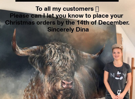 Pre Christmas Orders With Dina Perejogina.