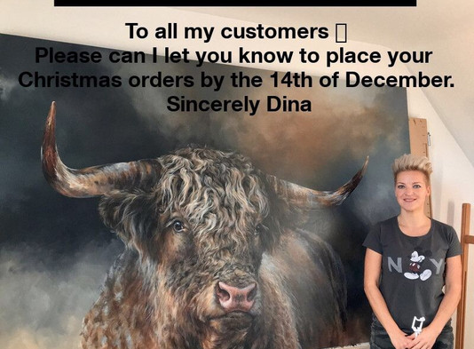 Pre Christmas Orders With Dina Perejogina.