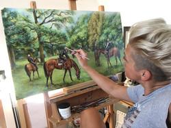 'Grazing Horses'