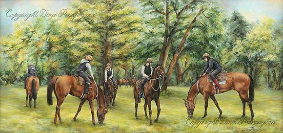 """""""Weidende Pferde"""""""