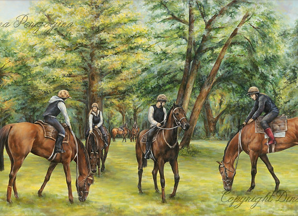 'Grazing Horses'(Sold)