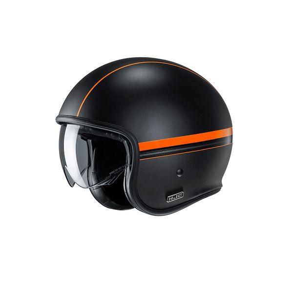 HJC V30 orange line