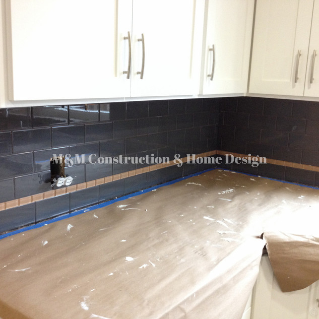 Kitchen refacing-Backsplash