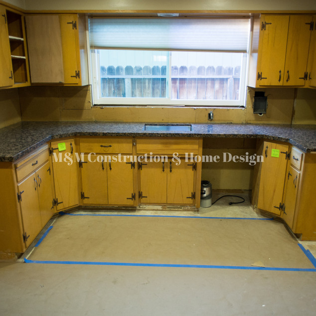 Before Kitchen refacing-countertop installation